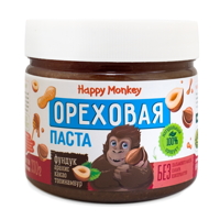 """Happy Monkey"" Ореховая паста Фундук 330 гр"
