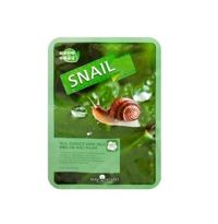 May Island Тканевая Маска для лица с Муцином Улитки Real Essense Snail Mask Pack, 25 мл