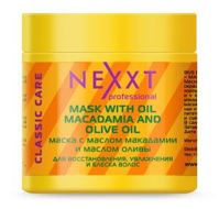 Nexxt Professional MASK WITH OIL MACADAMIA AND OLIVE Маска с маслом макадамии и маслом оливы, 200 мл